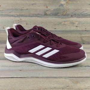 adidas Speed Trainer 4 Baseball Shoes Maroon NEW